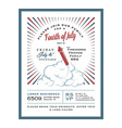 vintage 4th july independence day invitation vector image vector image