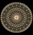 vintage floral greek 3d mandala pattern vector image vector image