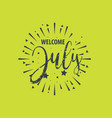 welcome - fireworks - today day for greeting vector image