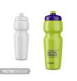 white glossy sport water bottle mockup vector image vector image