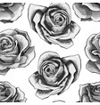 white roses vintage seamless pattern blue rose vector image