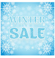 winter sale inscription blue background with vector image