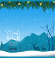 winter sale with reindeers in snow background vector image