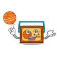 with basketball radio character cartoon style vector image