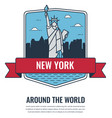 world landmarks usa travel and tourism vector image