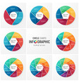 circle chart infographic templates for data vector image
