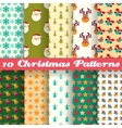 Christmas seamless patterns tiling vector image
