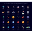 Set of space icons and infographics elements vector image