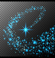abstract bright falling star - christmas star vector image