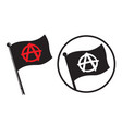 anarchy black flag icons vector image