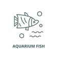 aquarium fish line icon outline concept vector image vector image
