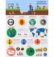 Archeological Infographics With Elements Of vector image vector image