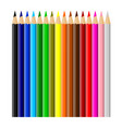 beautiful multicolored crayons isolated on white vector image vector image