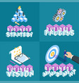 business concepts set 02 vector image