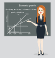 business woman presentation economic growth vector image vector image