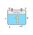 calendar date festival icon design vector image