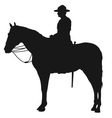 Canadian Mountie Silhouette vector image vector image