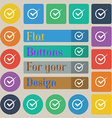 Check mark sign icon Checkbox button Set of twenty vector image vector image