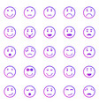 circle face gradient icons on white background vector image