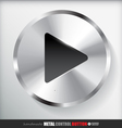 Circle Metal Play Button Applicated for HTML and vector image vector image