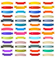 Colorful Retro Ribbons Labels Set Isolated on vector image vector image