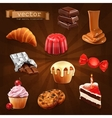 Confectionery icons vector image vector image