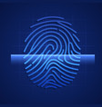 fingerprint scanning element hud technology vector image vector image