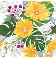 floral seamless pattern garden flower summer vector image vector image