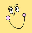 funny cartoon emotional face for comics design vector image vector image