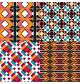 Geometric pattern set vector image vector image