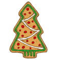 gingerbread tree isolated on a white vector image vector image