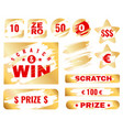golden scratch card lottery cover for instant vector image vector image