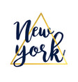 hand writing new york slogan vector image