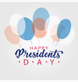 happy presidents day lettering in usa typographic vector image vector image