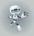 heroic pose robot technology science fiction vector image vector image