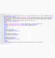 html abstract code colorful tags in vector image
