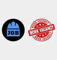 job helmet icon and grunge work vacancy vector image vector image