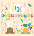 kids art-working process background