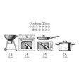 kitchen appliance set vector image