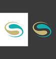 letter s abstract logo vector image vector image