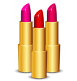 lipsticks vector image vector image