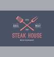 logo of steak house vector image