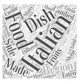 Lombardy The Other Side of Italian Food Word Cloud vector image vector image