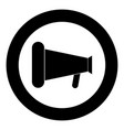loud speaker or megaphone icon black color in vector image vector image