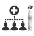 medical client links icon with professional bonus vector image vector image