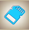 memory card sign sky blue icon with vector image vector image