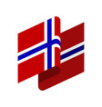 norway flag isolated norwegian ribbon banner vector image vector image
