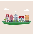 old traditional european vintage houses vector image vector image