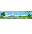 Panorama of nature - the mountains on the horizon vector image vector image