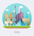 paris skyline and landscape of buildings vector image